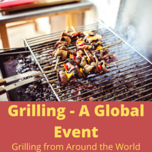 grill with vegetables
